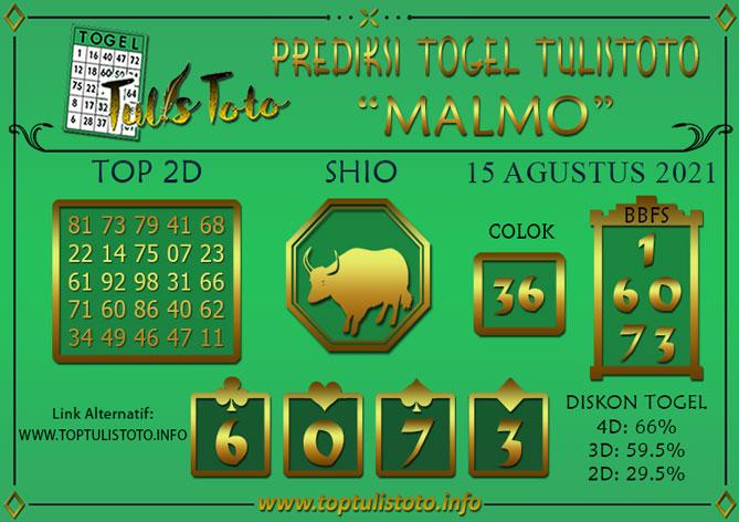 Prediksi Togel MALMO TULISTOTO 15 AGUSTUS 2021