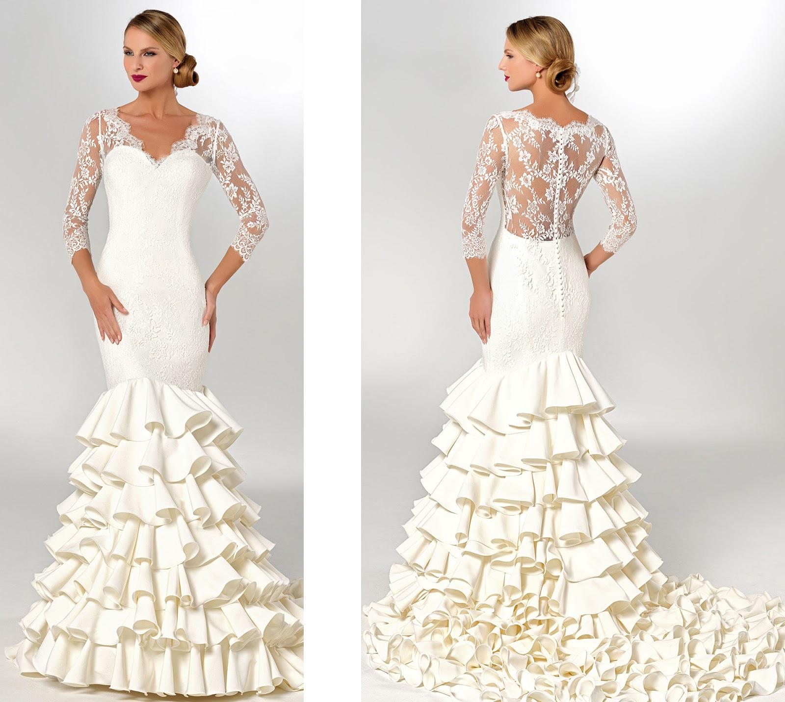 El sutil vestido de novia flamenca de Cristyanth - Murcia - NOVIAS ...