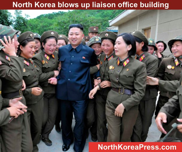 Tensions rise in Korean peninsula - North Korea blows up liaison office building