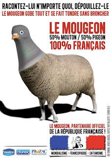 Le mougeon, 50% mouton, 50% pigeon, 100% français