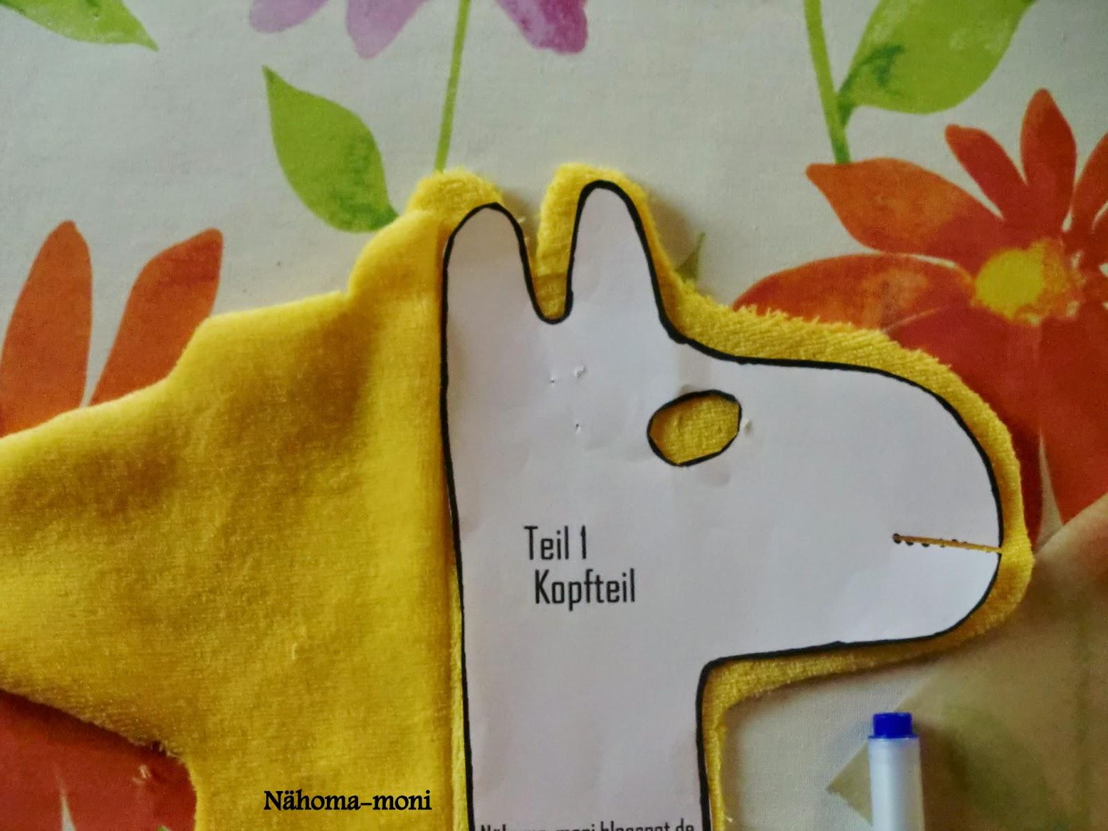 Naehoma - moni: Giraffe ein kostenloses Schnittmuster zum herunterladen