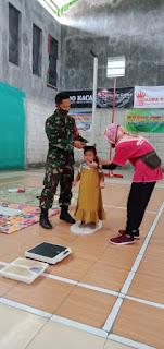 Babinsa Koramil 08 Keling Dampingi Pelaksanaan Posyandu Anak Dan Balita