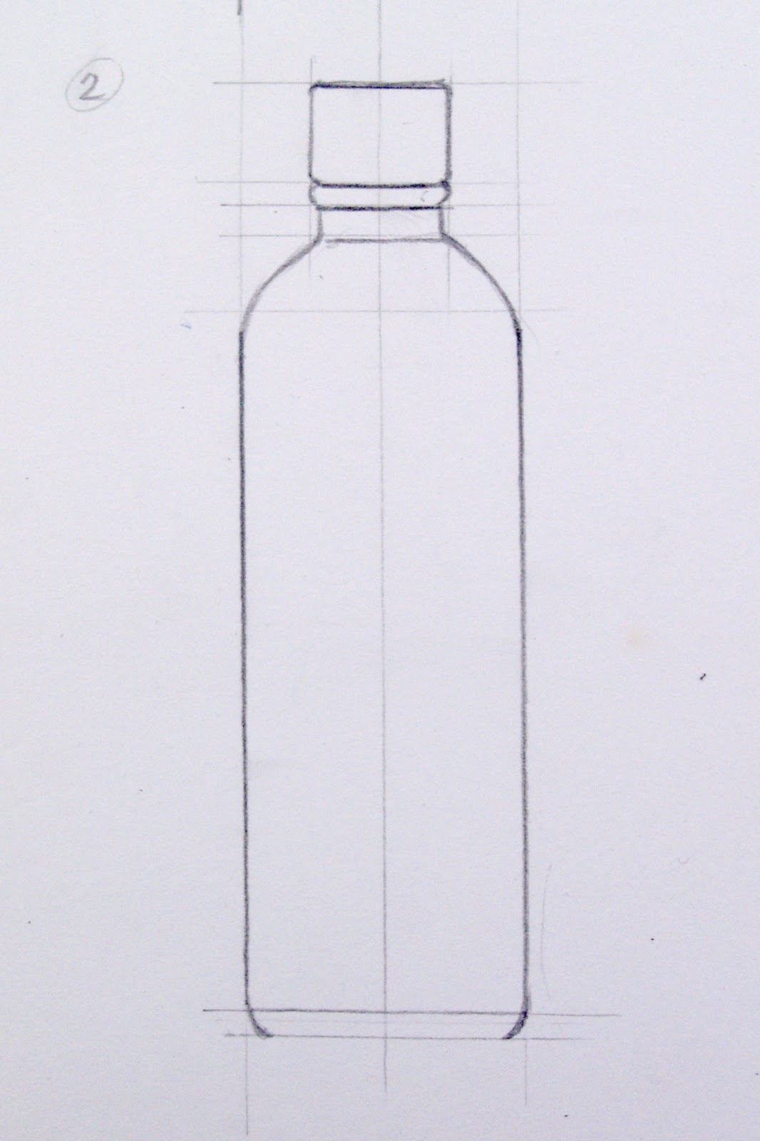 It is a photo of Canny Drawing Of Bottle