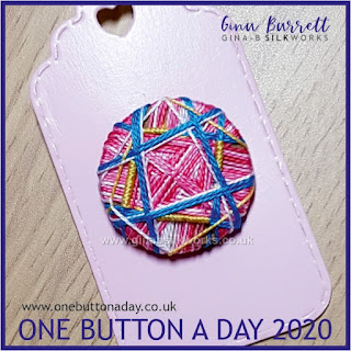 One Button a Day 2020 by Gina Barrett - Day 116: Tumult