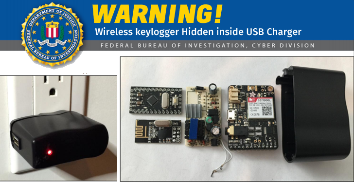 Beware of Fake USB Chargers that Wirelessly Record Everything You Type, FBI warns