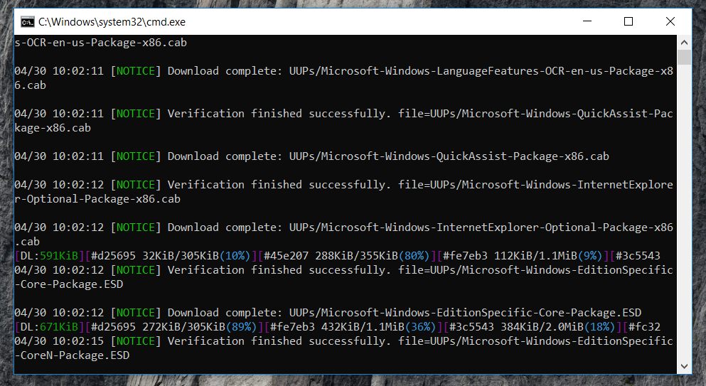 Windows 10 insider latest ISO making using Command prompt