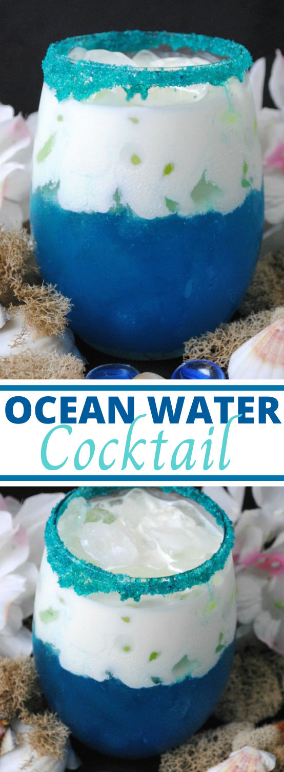 Ocean Water Cocktail #summer #drink #cocktails #party #adult