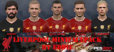 PES 2017 Facepack Liverpool FC 2019 by Eddie Facemaker
