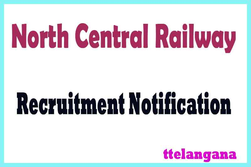 North Central Railway Recruitment Notification