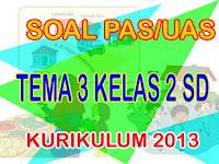 Soal PAS/UAS Kelas 2 SD Tema 3 Kurikulum 2013 Tahun 2019 dan Kunci Jawaban