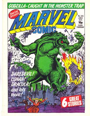 Marvel Comic #345, Godzilla