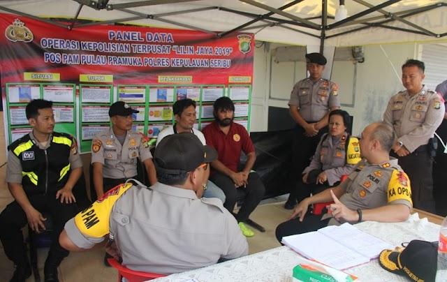 Operasi Lilin, Kapolres Kepulauan Seribu Ke Pospam Pulau Pramuka