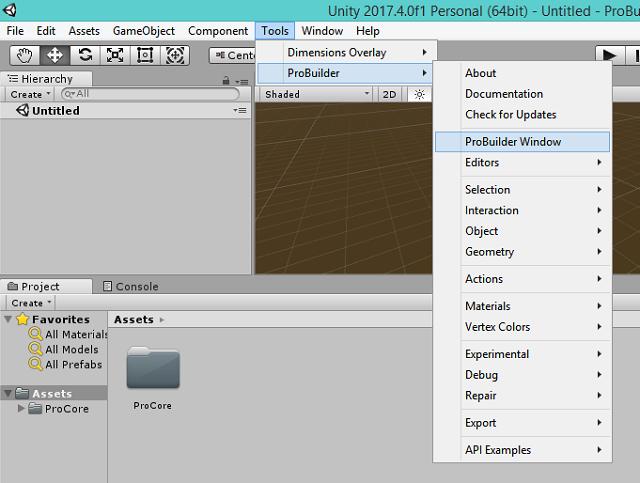 graphics: Unity3D : ProBuilder tool