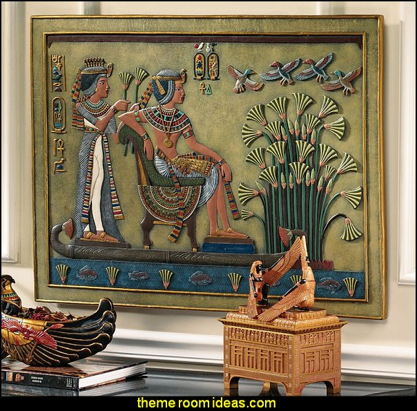 Royal Nile Barge Sculptural Wall Décor  Egyptian theme bedroom decorating ideas - Egyptian decor - Egyptian furniture - Egyptian Themed Home Decor - pyramid wall murals - Egyptian wall decals - Egyptian themed bedding - Egyptian throw pillows -  egyptian themed bedding set - ancient egyptian themed bedding - Egyptian Home decor ideas - Egyptian costumes - Egyptian themed lighting -  Egyptian Queen costume -  Egyptian Pharaoh Costume - Hieroglyphic posters - Egyptian themed rooms