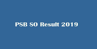 PSB Specialist Officer Result 2019