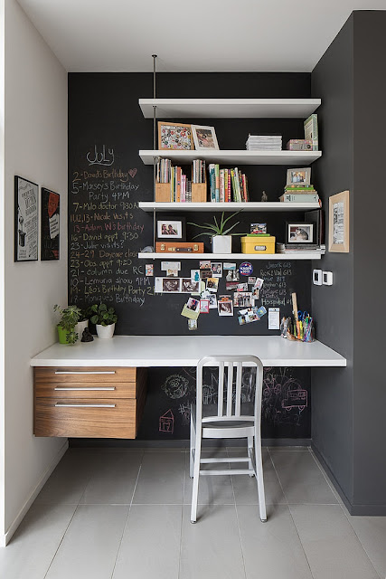 chalkboard wall office