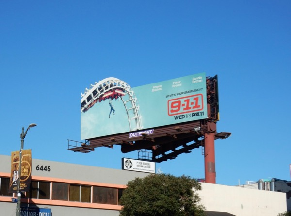 911 special extension cut-out billboard