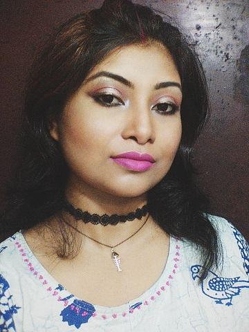 Bronze-y Metallic Eye Liner Look   Festive Look 2  Navaratri and Durgapuja look