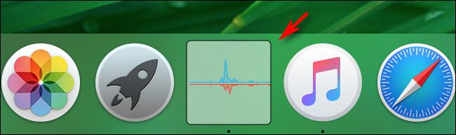 إظهار الرسم البياني لإرساء استخدام الشبكة الخاص بمراقب النشاط في وضع الحزمة