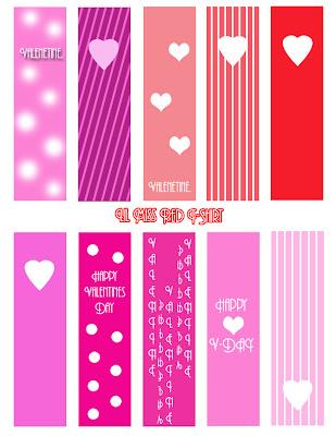 15 FREE Valentine's Day Bookmark Printables
