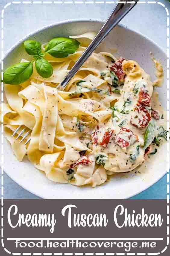 Creamy Tuscan chicken with fresh garlic, spinach, and sun-dried tomatoes is a meal worthy of entertaining or special occasions, yet can be on your table in 30 minutes.