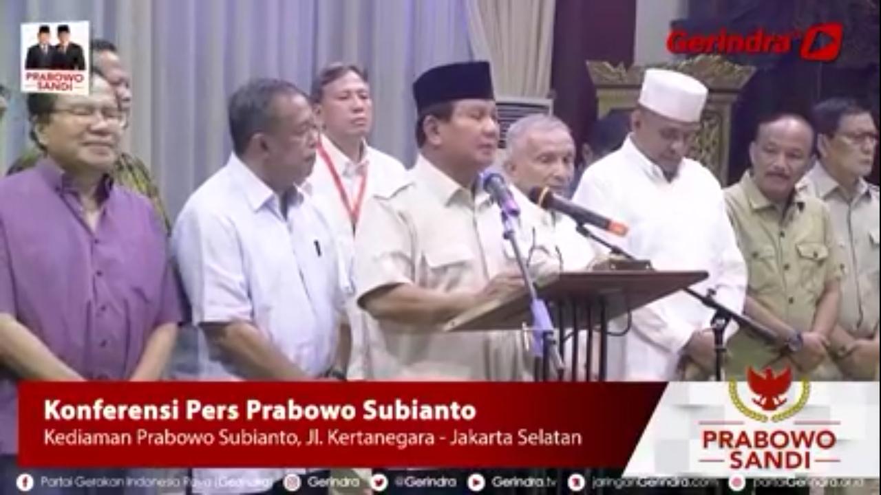 Prabowo: UBN Tidak Bersalah Sama Sekali