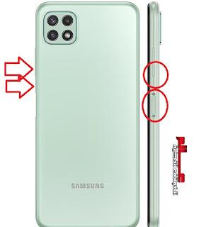 طريقة أخذ لقطة شاشة Screenshot في سامسونج Galaxy A22