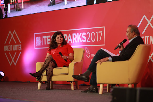 Shradha Sharma and Sunil Sood at TechSparks 2017