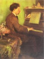 Barilli al pianoforte, ritratto dal fratello Latino