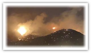 بفيديو.. حريق ضخم بمكة المكرمة