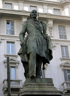 There is a statue of Carlo Cattaneo on Via Santa Margherita in central Milan