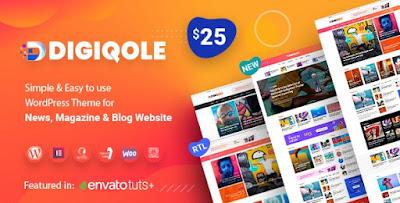 Digiqole - News Magazine WordPress Theme V1.2.3