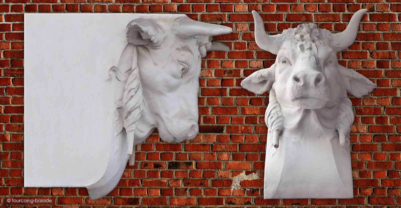 Sculpture du Taureau - Maison du Broutteux, Tourcoing.