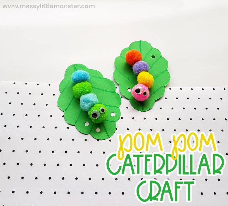 Pom Pom caterpillar craft