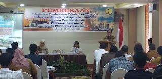 Kabid Bikon PUPR Secara Resmi Membuka Kegiatan Pembekalan Teknis Administrasi Pekerjaan Konstruksi Aparatur Pengawas Bangunan Dan NSPM SOP.