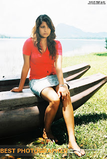 Nadeesha hemamali sitting boat