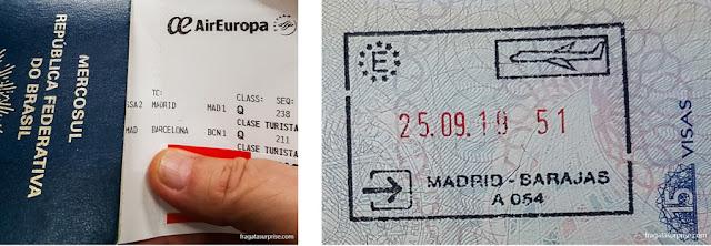 Documentos para turistas brasileiros entrarem na Espanha