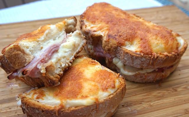 Sandwich 🥪 CROQUE MONSIEUR (🍞 bocadillo frances) Receta fácil y rica.