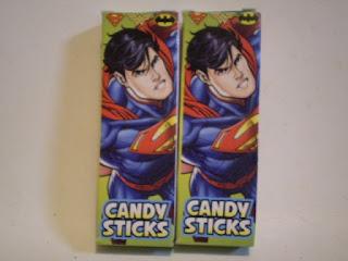 Back of Superman Candysticks box version 2