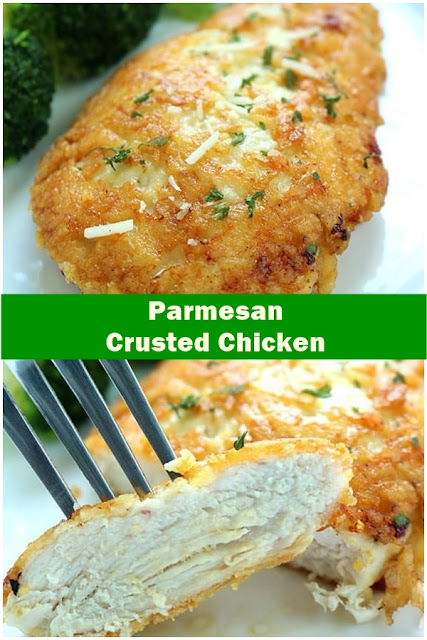 #Parmesan #Crusted #Chicken #crockpotrecipes #chickenbreastrecipes #easychickenrecipes #souprecipes