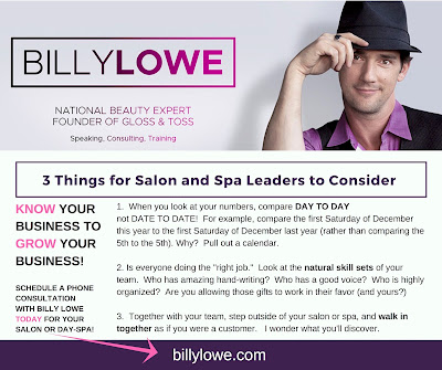 Grow your salon or spa business with Billy Lowe, National Beauty Expert