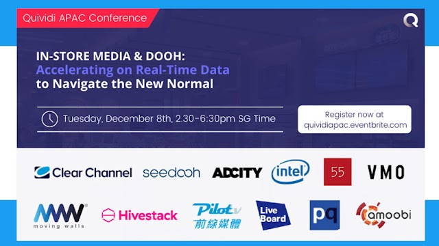 Quividi Announces December 8th's APAC Conference on Real-Time Data to Navigate the New Normal