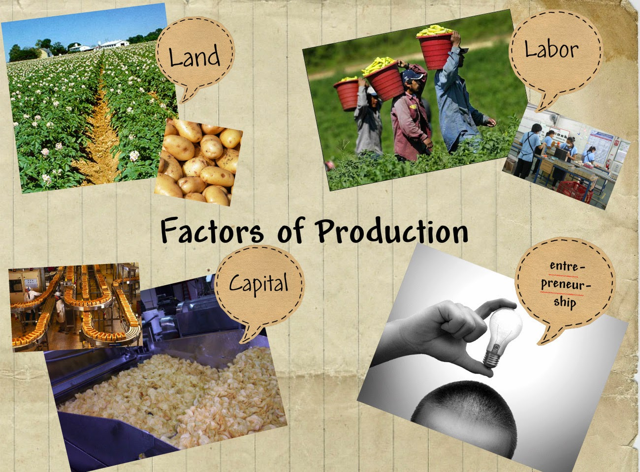 Factors of Production : Land, Labour, Capital and Entrepreneur | National Income