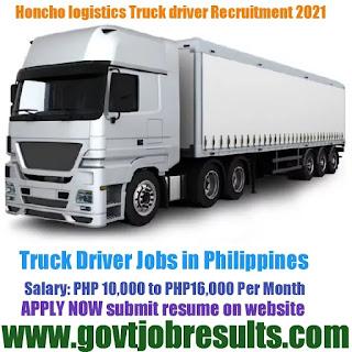 Honcho Logistics Truck Driver recruitment 2021-22