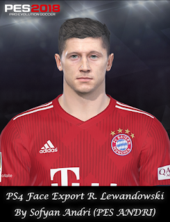 PES 2018 Faces Robert Lewandowski By Sofyan Andri