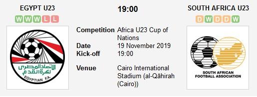 مشاهدة مباراة مصر الأولمبي وجنوب إفريقيا بث مباشر في كأس الأمم الأفريقية تحت 23 سنة