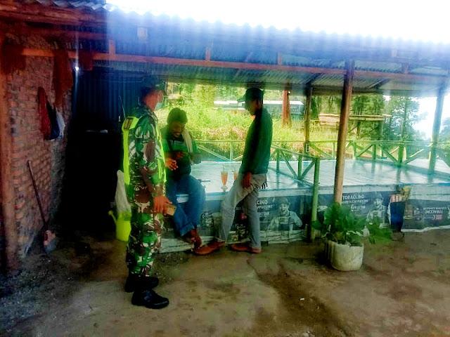 Pengawasan Protokol Covid-19 Dilaksanakan Personel Jajaran Kodim 0207/Simalungun Diwilayah Binaan