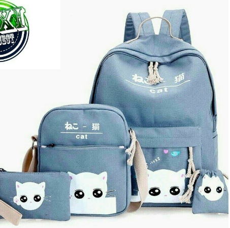Back Pack Double Decker Tas Ransel Anak