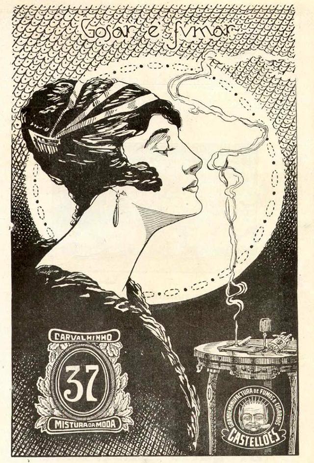 Propaganda de cigarro de 1919 que apresentou o prazer de fumar aos leitores