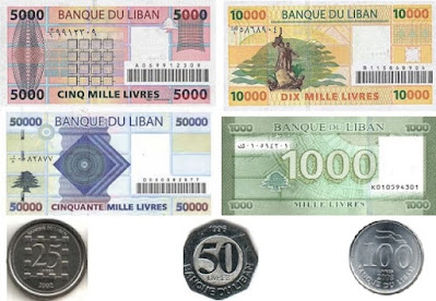 Countries and Currency Lebanese pound